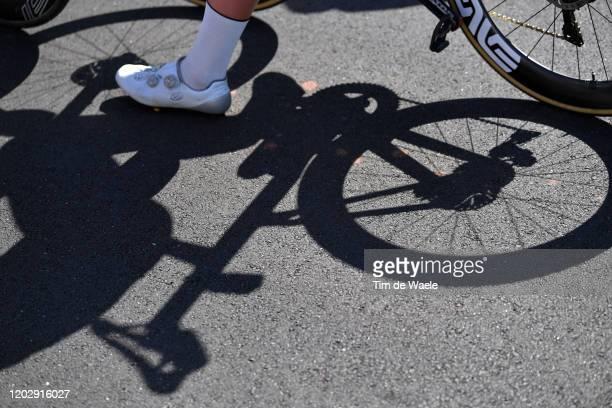 Start / Shadow / Wheel / Detail view / during the 4th Towards Zero Race Torquay 2020 Men Elite 130km race from Torquay to Torquay / @CadelOfficial /...