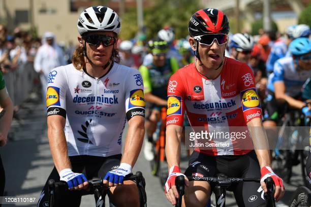 Start / Shane Archbold of New Zealand and Team Deceuninck - Quick - Step / Michael Morkov of Denmark and Team Deceuninck - Quick - Step / during the...