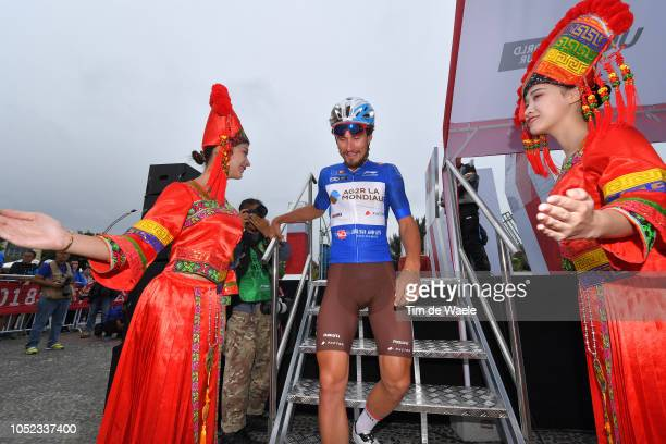Start / Silvan Dillier of Switzerland and Team Ag2R La Mondiale Blue Sprint Jersey / Traditional Chinese Custom / during the 2nd Tour of Guangxi 2018...