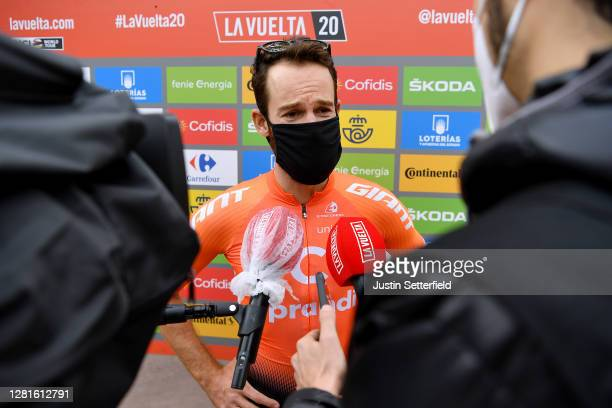 Start / Simon Geschke of Germany and CCC Team / Press Media / Social distance / Mask / Covid safety measures / Team Presentation / during the 75th...