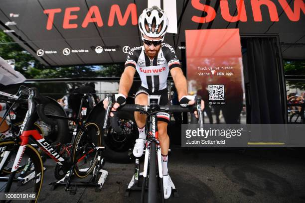 Start / Simon Geschke of Germany and Team Sunweb / Warmup / during the 105th Tour de France 2018 Stage 19 a 2005km stage from Lourdes to Laruns / TDF...