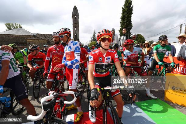 Start / Simon Yates of Great Britain and Team Mitchelton-Scott Red Leader Jersey / during the 73rd Tour of Spain 2018, Stage 11 a 207,8km stage from...