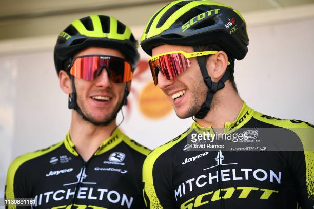 Start / Simon Yates of United Kingdom and Team Mitchelton Scott / Adam Yates of United Kingdom and Mitchelton Scott / Team Presentation / during the...