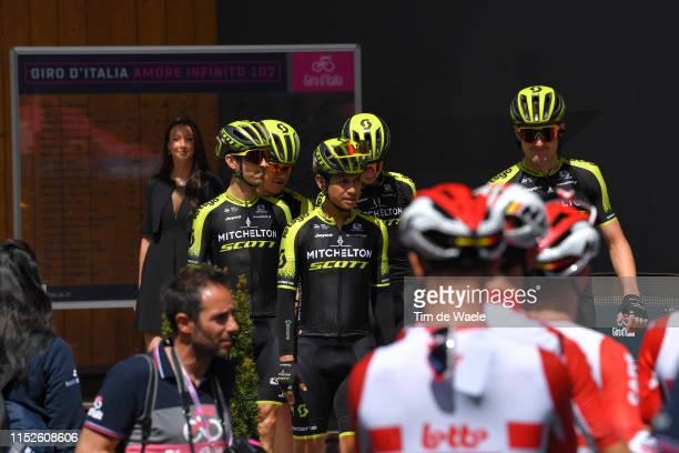 Start / Simon Yates of United Kingdom and Team Mitchelton Scott / Jack Bauer of New Zealand and Team Mitchelton Scott / Brent Bookwalter of The...