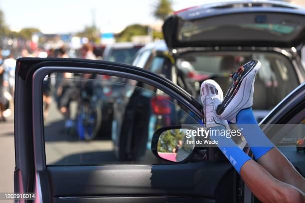 Start / Socks / Shoe / Detail view / during the 4th Towards Zero Race Torquay 2020, Men Elite 130km race from Torquay to Torquay / @CadelOfficial /...