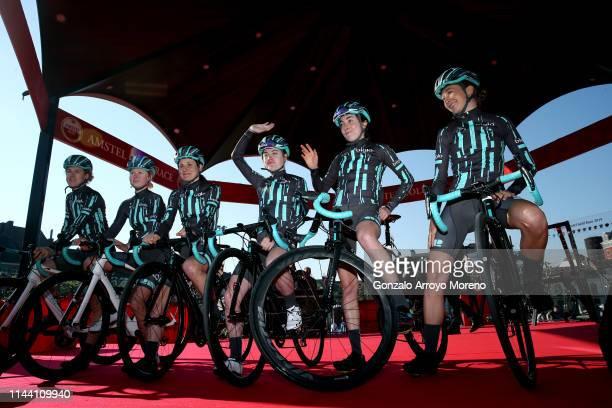 Start / Sophie Wright of Great Britain and Bigla Pro Cycling Team / Elise Chabbey of Switzerland and Bigla Pro Cycling Team / Nikola Noskova of Czech...