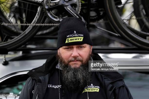 Start / Staff of Team Mitchelton - Scott of Australia / during the 59th Itzulia-Vuelta Ciclista Pais Vasco 2019, Stage 4 a 163,6km stage from...