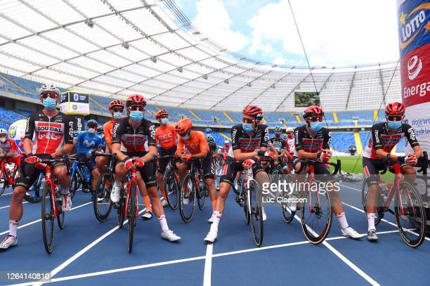 Start / Steff Cras of Belgium, Thomas De Gendt of Belgium, John Degenkolb of Germany, Jonathan Dibben of The United Kingdom, Roger Kluge of Germany,...