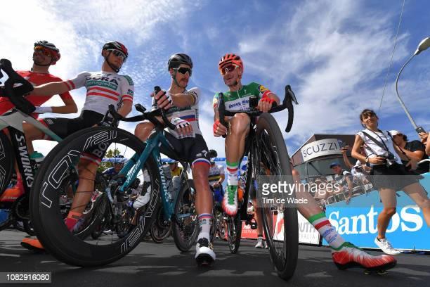 Start / Steve Morabito of Switzerland and Team GroupamaFDJ / Lukas Pöstlberger of Austria and Team BoraHansgrohe / Peter Sagan of Slovakia and Team...