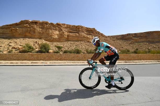 Start / Suleiman Kangangi of Kenya and Team Bike AID / during the 1st Saudi Tour 2020, Stage 4 a 137km stage from Wadi Namar Park to Al Muzahimiya...