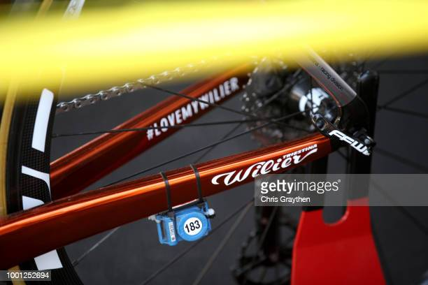 Start / Sylvain Chavanel of France and Team Direct Energie / Fork / Detail view / during the 105th Tour de France 2018 Stage 11 a 1085km stage from...