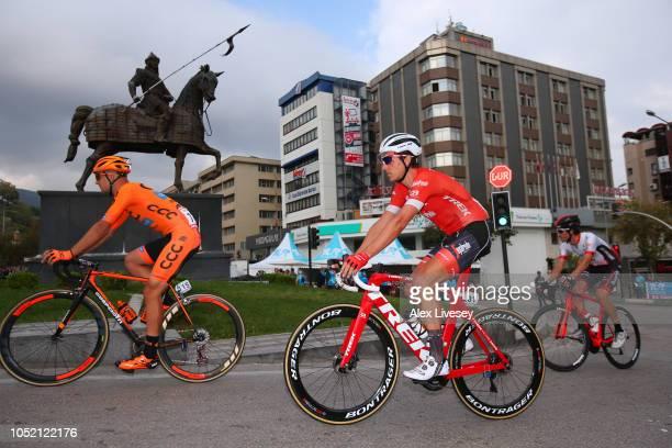 Start / Szymon Sajnok of Poland and Team CCC Sprandi Polkowice / Koen De Kort of The Netherlands and Team Trek-Segafredo / Statue of Osmangazi, the...