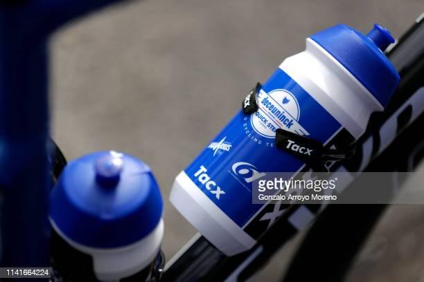 Start / Tacx bottle / Team Deceuninck QuickStep of Belgium / Detail view / during the 59th ItzuliaVuelta Ciclista Pais Vasco 2019 Stage 3 a 1914 km...