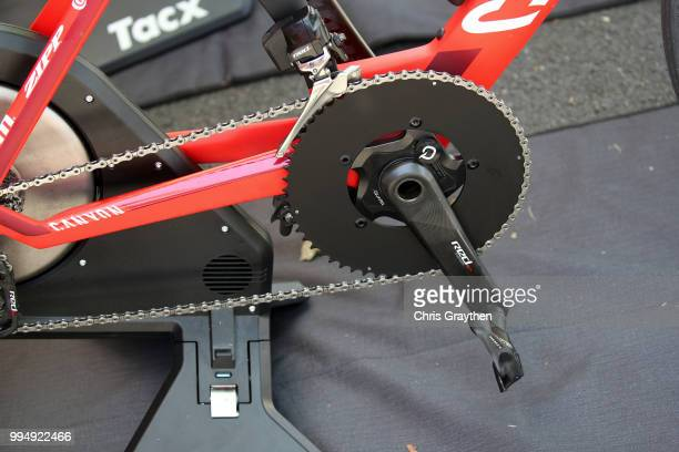 Start / Tacx Rollers / Crankset / Chain / Pedal / Team Katusha-Alpecin of Switzerland / Detail View / Canyon Bike / during the 105th Tour de France...