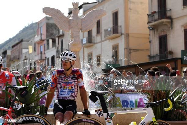 Start / Tanel Kangert of Estonia and Team EF Pro Cycling / Santuario Maria SS. Dell'Alto / Alcamo Village / during the 103rd Giro d'Italia 2020,...