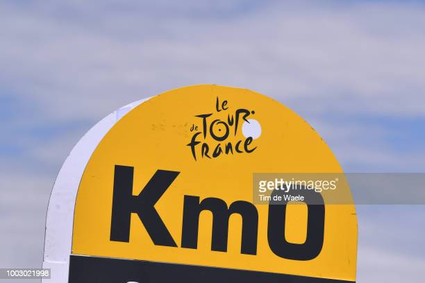 Start / TDF logo / Km 0 / Illustration / during the 105th Tour de France 2018 Stage 14 a 188km stage from SaintPaulTroisChateaux to Mende 1030m / TDF...