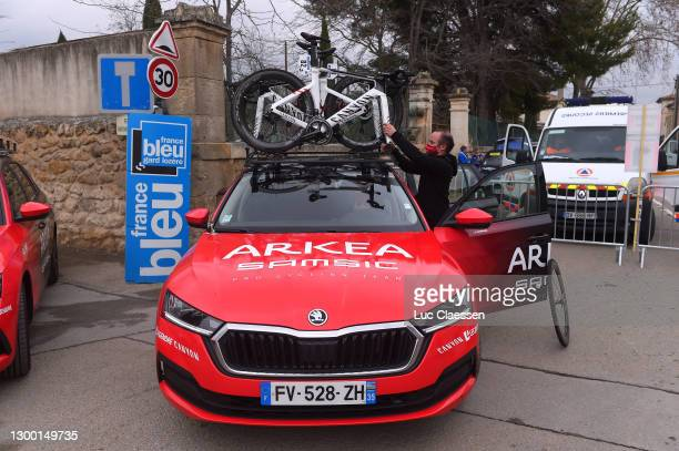 Start / Team Arkea - Samsic Car / Canyon Bike / Mechanic / during the 51st Étoile de Bessèges - Tour du Gard 2021, Stage 1 a 143,55km stage from...