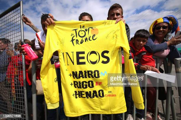 Start / Team INEOS / Fans / Public / Detail view / during the 3rd Tour of Colombia 2020, Stage 5 a 180,5km stage from Paipa to Zipaquirá /...