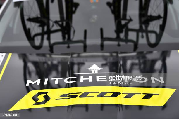 Start / Team MitchelsonScott of Australia / Car / Shadow / Bike / Illustration / during the 5th OVO Energy Women's Tour 2018 Stage 5 a 122km stage...