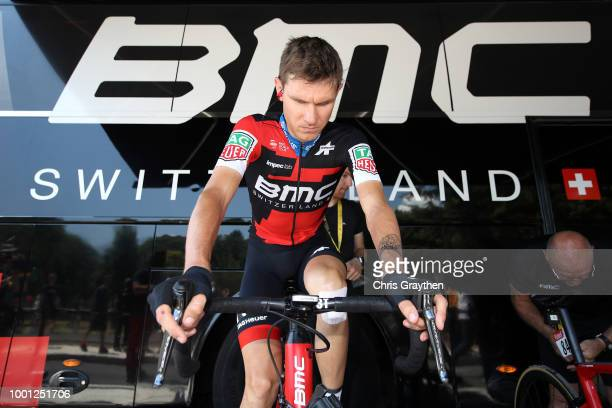 Start / Tejay Van Garderen of The United States and BMC Racing Team / Warm up / during the 105th Tour de France 2018 Stage 11 a 1085km stage from...