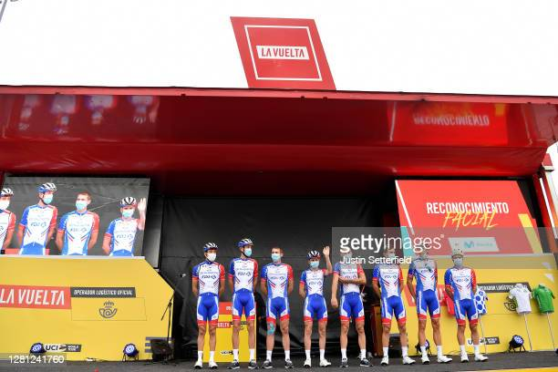 Start / Thibaut Pinot of France, Bruno Armirail of France, Mickael Delage of France, David Gaudu of France, Matthieu Ladagnous of France, Olivier Le...