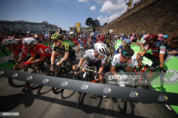 Start / Thomas De Gendt of Belgium and Team Lotto Soudal / Luke Durbridge of Australia and Team MitcheltonScott / Daryl Impey of South Africa and...