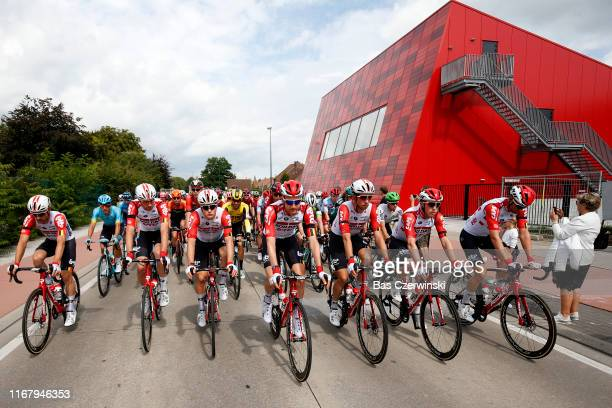 Start / Tim Wellens of Belgium and Team Lotto Soudal / Stan Dewulf of Belgium and Team Lotto Soudal / Frederik Frison of Belgium and Team Lotto...