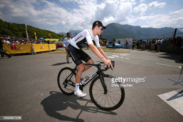 Start / Toms Skujins of Latvia and Team Trek Segafredo Polka Dot Mountain Jersey / Fans / Public / Children / during the 105th Tour de France 2018 /...