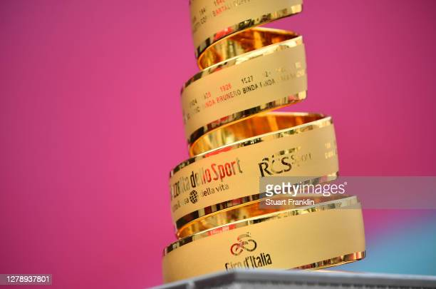 Start / Trofeo Senza Fine / Trophy / Detail view / during the 103rd Giro d'Italia 2020, Stage 5 a 225km stage from Mileto to Camigliatello Silano...