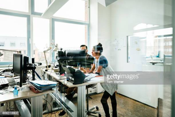 Start up business people having an informal meeting at a desk
