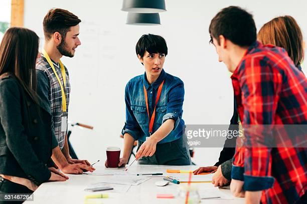 Start Up Team At Meeting.