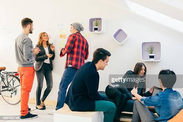 Start Up Team At Work.
