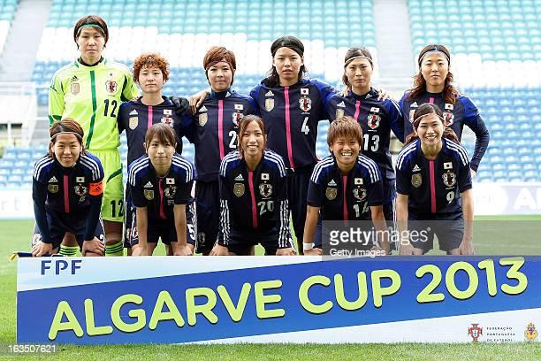 Start up Team of Japan Back Row Erina Yamane Yuka Kado Asano Nagasato Saki Kumagai Rumi Utsugi Yuki Ogimi Front Row Azusa Iwashimizu Aya Sameshima...