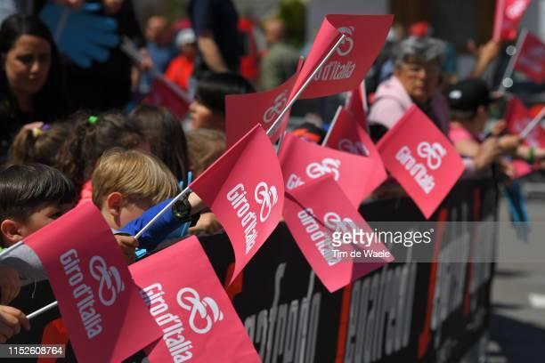 Start / Valdaora Village / Fans / Public / Children / Giro Flag / during the 102nd Giro d'Italia 2019, Stage 18 a 222km stage from Valdaora to Santa...