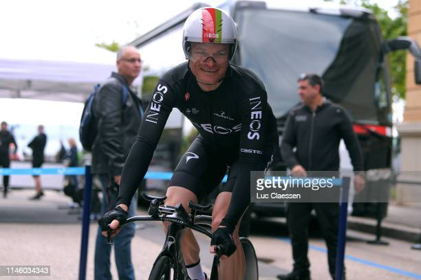 Start / Vasil Kiryienka of Belarus and Team Ineos / during the 73rd Tour de Romandie 2019, Prologue a 3,87km Individual Time Trial from Neuchâtel to...