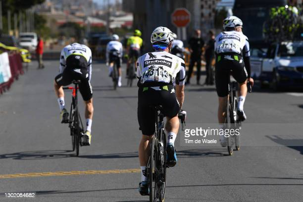 Start / Victor Campenaerts of Belgium and Team Team Qhubeka Assos during the 34th Clásica de Almeria 2021 a 183,3km race from Pueblo de Vicar to...