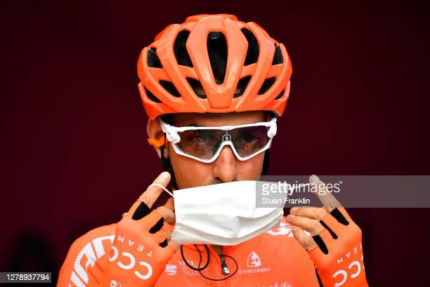 Start / Victor De La Parte of Spain and CCC Team / Mask / Covid safety measures / Team Presentation / during the 103rd Giro d'Italia 2020, Stage 5 a...