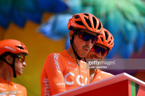Start / Victor De La Parte of Spain and CCC Team / Sing In / Team Presentation / during the 6th UAE Tour 2020 Stage 4 a 173km stage from Zabeel Park...