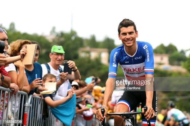 Start / Warren Barguil of France and Team Arkea-Samsic / Public / Fans / Limoux City / during the 106th Tour de France 2019, Stage 15 a 185 km stage...
