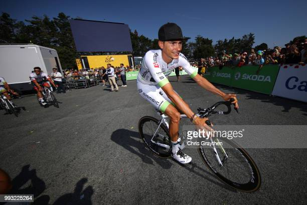 Start / Warren Barguil of France and Team Fortuneo Samsic / during the 105th Tour de France 2018 Stage 1 a 201km from NoirmoutierEnL'ile to...