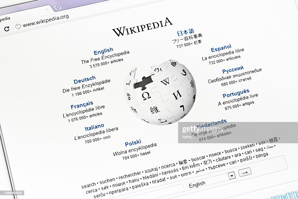 Start Web Page Of Wikipedia High Res Stock Photo Getty Images