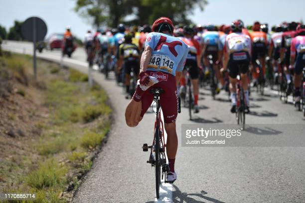 Start / Willem Jakobus Smit of South Africa and Team Katusha-Alpecin / Stretching / during the 74th Tour of Spain 2019, Stage 6 a 198,9km stage from...