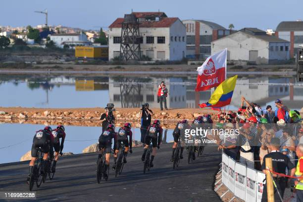 Start / Wout Poels of Netherlands and Team Ineos / David de la Cruz of Spain and Team Ineos / Owain Doull of Great Britain and Team Ineos / Tao...