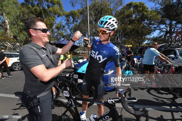 Start / Wout Poels of The Netherlands and Team Sky / during the 2019 Tour Down Under Classic a 1 hour 1 lap of 17km race from Adelaide to Adelaide /...