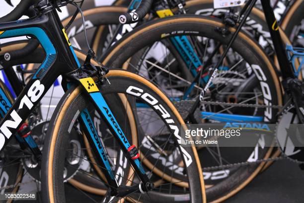 Start / Yevgeniy Gidich of Kazakhstan and Astana Pro Team / Detail view / Argon 18 Bike / during the 21st Santos Tour Down Under 2019 Stage 1 a 129km...