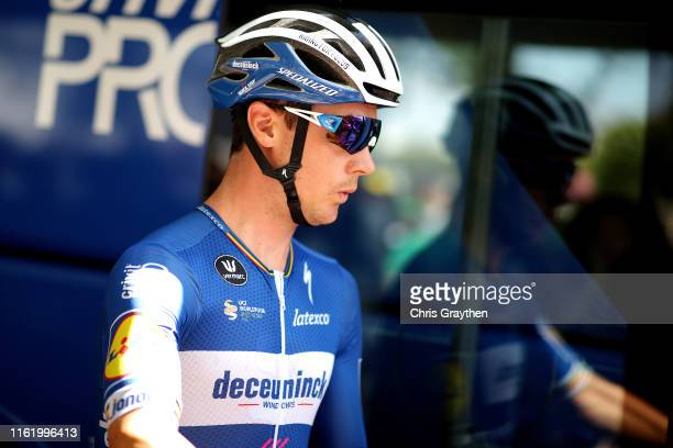Start / Yves Lampaert of Belgium and Team Deceuninck QuickStep / during the 106th Tour de France 2019 Stage 9 a 1705km stage from SaintÉtienne to...