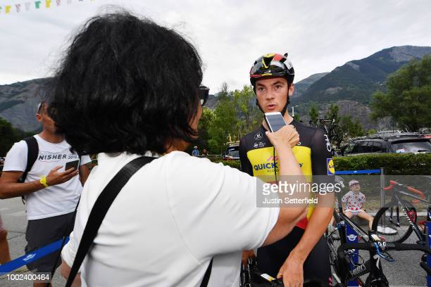 Jonathan Castroviejo of Spain and Team Sky / Alexander Kristoff of Norway and UAE Team Emirates / Peter Sagan of Slovakia and Team Bora Hansgrohe...