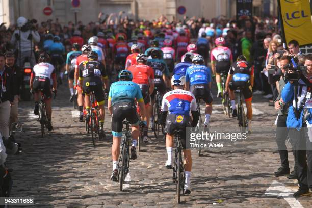 Start / Zdenek Stybar of Czech Republic and Team QuickStep Floors / during the 116th Paris Roubaix 2018 a 257km race from Compiegne to Roubaix on...