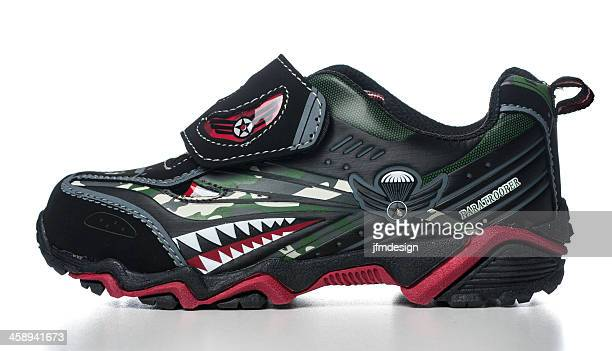 starter boys' rex light-up velcro sneakers - nylon fastening tape stock photos and pictures