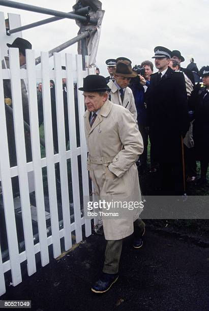 Starter Captain Keith Brown after the Grand National failed to take place at Aintree 3rd April 1993 A false start was called after the starting tape...